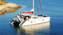 Privilege 585 at marina ACI Marina Trogir in Trogir.
