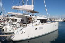 Beneteau Lagoon 39 at marina ACI Marina Split in Split.