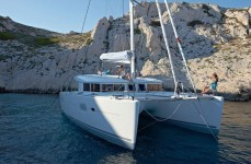 Beneteau Lagoon 400 at marina ACI Marina Split in Split.