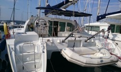 Beneteau Lagoon 410 S2 at marina Marina Punat in Island of Krk.