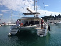 Beneteau Lagoon 450 luxury at marina ACI Marina Split in Split.