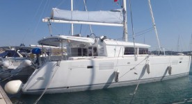 Beneteau Lagoon 450 at marina Marina Rogac in Split.