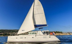 Beneteau Lagoon 500 at marina ACI Marina Split in Split.