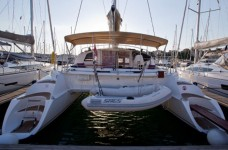 Fountaine Pajot Athena 38 at marina Marina Punat in Island of Krk.