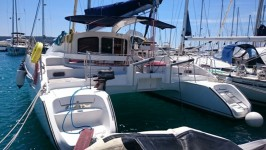 Fountaine Pajot Lavezzi 40 at marina Marina Punat in Island of Krk.