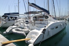 Fountaine Pajot Lavezzi 40 at marina ACI Marina Trogir in Trogir.