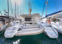 Fountaine Pajot Lipari 41 at marina Marina YC Seget in Trogir.