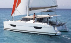 Fountaine Pajot Lucia 40 at marina Marina Dalmacija Sukosan in Zadar.