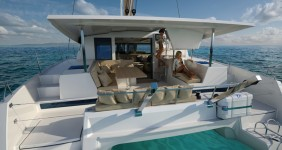 Fountaine Pajot Lucia 40 at marina ACI Marina Trogir in Trogir.