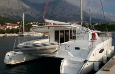 Fountaine Pajot Orana 44 at marina Marina Dalmacija Sukosan in Zadar.