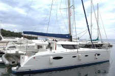 Fountaine Pajot Salina 48 at marina ACI marina Dubrovnik in Dubrovnik.