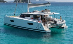 Fountaine Pajot Saona 47 at marina ACI Marina Trogir in Trogir.