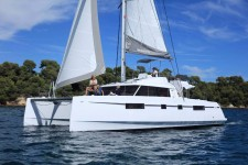 Nautitech Open 46 Fly at marina Marina YC Seget in Trogir.