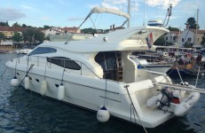 Ferretti 46 Fly at marina Marina Baska Voda in Makarska.