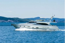 Ferretti 730 at marina ACI Marina Split in Split.