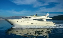 Ferretti 760 at marina ACI Marina Split in Split.
