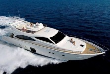 Ferretti 780 HT at marina ACI Marina Split in Split.