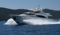 Ferretti 881 HT at marina Marina Zenta in Split.