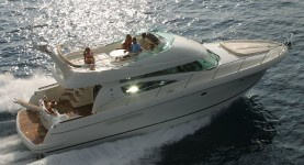Jeanneau Prestige 46 Fly at marina ACI Marina Split in Split.