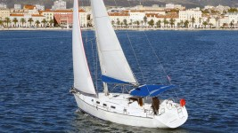Beneteau Cyclades 39 at marina ACI Marina Split in Split.