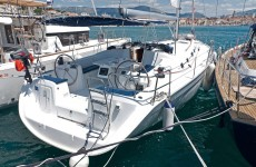 Beneteau Cyclades 50.4 at marina ACI Marina Split in Split.