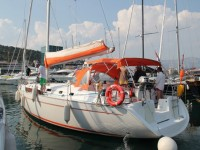 Beneteau Cyclades 50.5 at marina ACI Marina Split in Split.