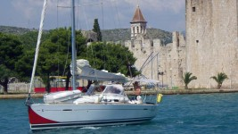 Beneteau First 35 at marina ACI Marina Split in Split.