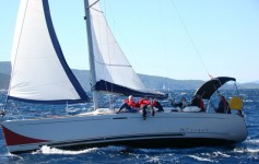 Beneteau First 36.7 at marina ACI Marina Trogir in Trogir.