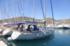 Beneteau First 40.7 at marina Marina Punat in Island of Krk.