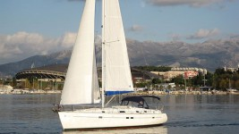 Beneteau Oceanis 411 Clipper at marina ACI Marina Split in Split.