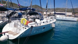 Beneteau Oceanis 411 Clipper at marina Marina Punat in Island of Krk.