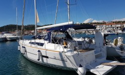 Dufour 460 Grand Large at marina ACI Marina Jezera in Murter.