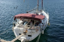 Dufour Gib Sea 43 at marina ACI Marina Trogir in Trogir.