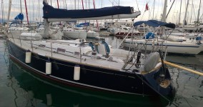 Grand Soleil 40 at marina ACI Marina Trogir in Trogir.