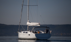 Hanse 385 at marina ACI Marina Split in Split.